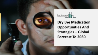 Dry Eye Medication Market Dynamics, Forecast, Analysis And Supply Demand 2021-2025