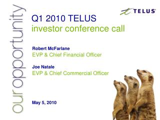 Q1 2010 TELUS investor conference call