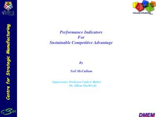 Performance Indicators For Sustainable Competitive Advantage By Neil McCallum