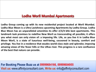 Lodha Worli, Lodha Worli Mumbai, Lodha Worli Apartments
