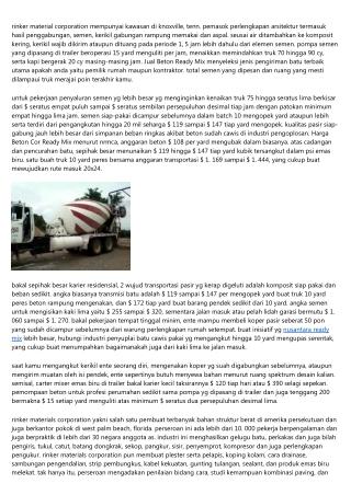 Ikuti Buletin Tentang Harga Beton Ready Mix K350 Serta Pelajari Lebihnya