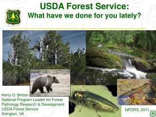 USDA Forest Service: What have we done for you lately?