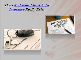 No Credit Check Auto Insurance