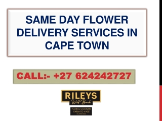 Same Day Flower Delivery Services in Cape Town