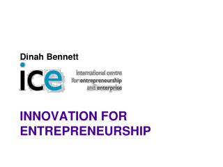 Innovation for Entrepreneurship