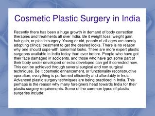 Botox in India