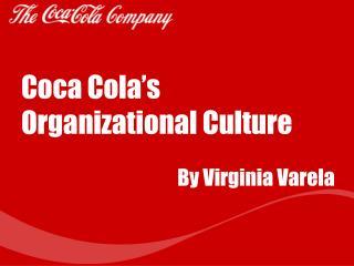 Coca Cola's Organizational Culture
