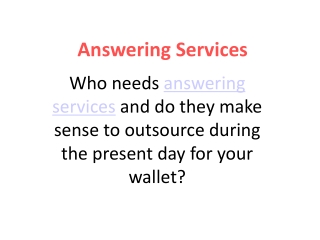 24 Hour Answering Services
