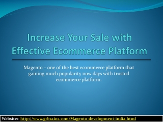 Increase Your Sale with Effective Ecommerce Platform