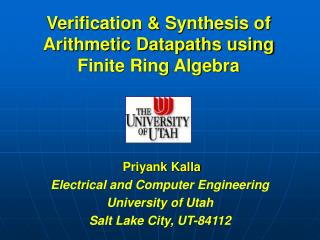 Verification & Synthesis of Arithmetic Datapaths using  Finite Ring Algebra