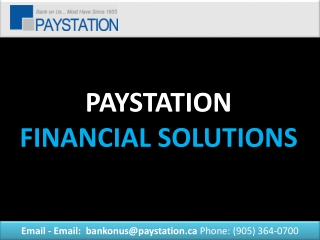 PAYSTATION FINANCIAL SOLUTIONS