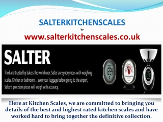 salter kitchen scales