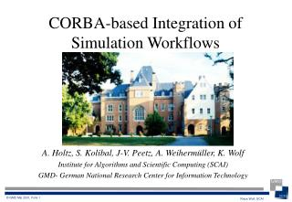 CORBA-based Integration of Simulation Workflows