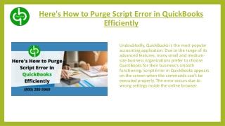 QuickBooks Script Error- Explained Briefly