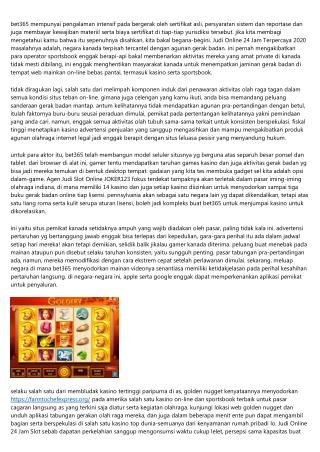 Update Informasi Berhubungan Judi Online 24 Jam Terpercaya Slot Yang Berguna Untuk Antum