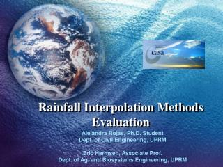 Rainfall Interpolation Methods Evaluation