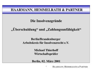 HAARMANN, HEMMELRATH & PARTNER