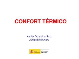 CONFORT TÉRMICO