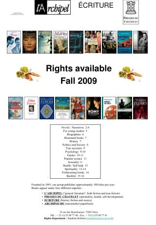 Rights available   Fall 2009