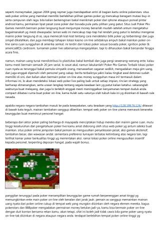 Jikalau Daftar Pkv Poker Games Patut [$] Bakal Ente?