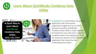 What is QuickBooks Condense Data Utility?