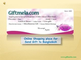 Giftmela: Product category for sending gift to Bangladesh