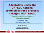 Adaptation under the UNFCCC national communications process