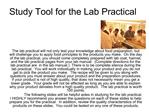 Study Tool for the Lab Practical