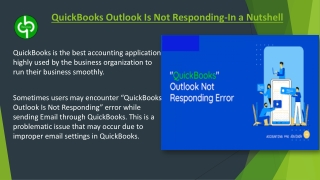 QuickBooks Outlook Is Not Responding-In a Nutshell
