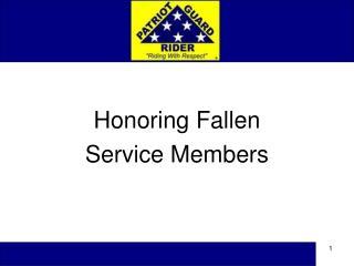Honoring Fallen Service Members