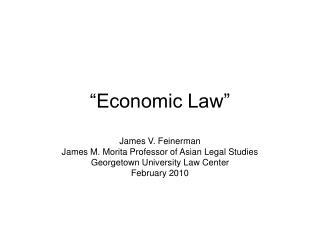 """Economic Law"""
