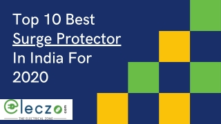Top 10 Best Surge Protectors in India for 2020 - Eleczo.com