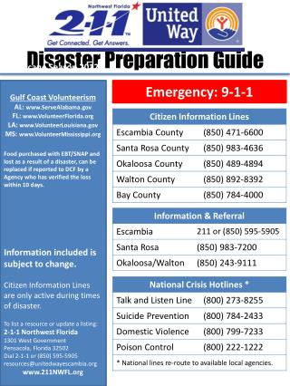 Disaster Preparation Guide