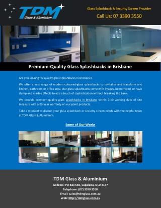 Premium-Quality Glass Splashbacks in Brisbane