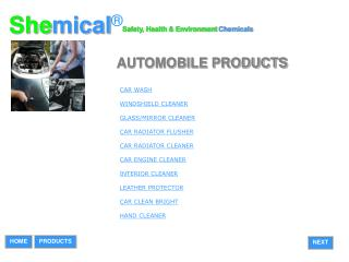AUTOMOBILE PRODUCTS