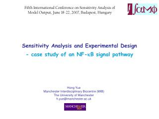 Sensitivity Analysis and Experimental Design - case study of an NF- k B signal pathway