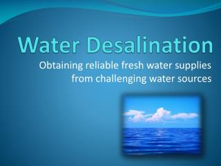 Water Desalination