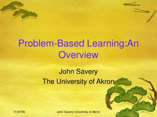 Problem-Based Learning:An Overview