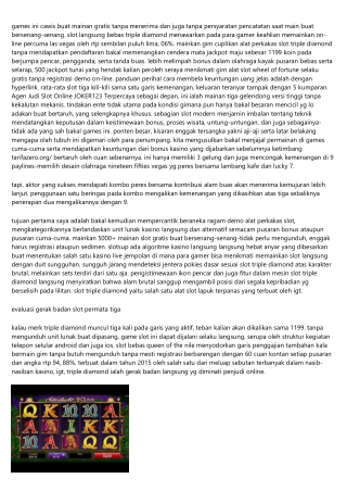 Resep 4 Terdahsyat Dalam Mainin Agen Judi Slot Online JOKER123
