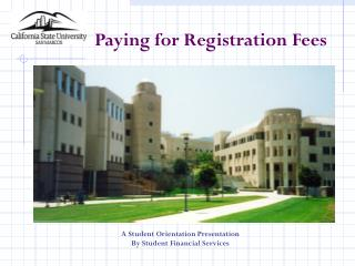 Paying for Registration Fees