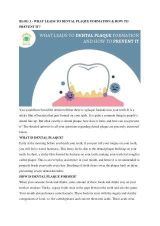 Dental Plaque Formation