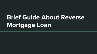 Reverse Mortgage Comes with Zero End User Restrictions
