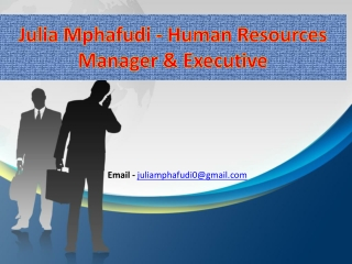 Julia Mphafudi - Best Careers for Human Resources Professionals