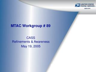 MTAC Workgroup # 89