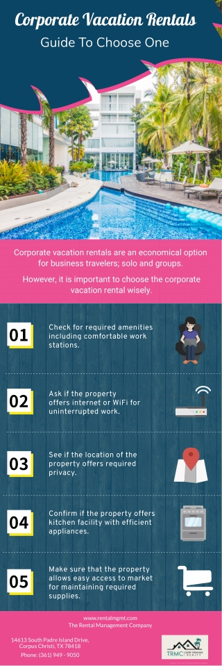 Corporate Vacation Rentals Guide To Choose One