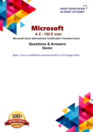 Real Microsoft AZ-102 Questions Answers-Microsoft AZ-102  Online Practice Software