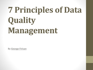7 Principles of Data Quality Management