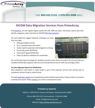 DICOM Data Migration Services from PrimeArray