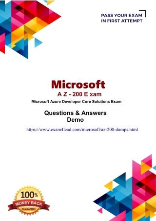 Microsoft AZ-200  Online Exam Practice Software-Microsoft AZ-200 Dumps PDF