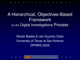 A Hierarchical, Objectives-Based Framework for the Digital Investigations Process